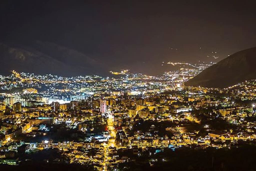 Mostar at night