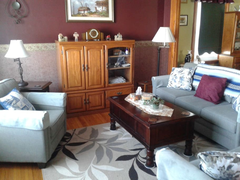 Newly furnished couch sets for a most comfortable and tastefully decorated relaxed atmosphere.