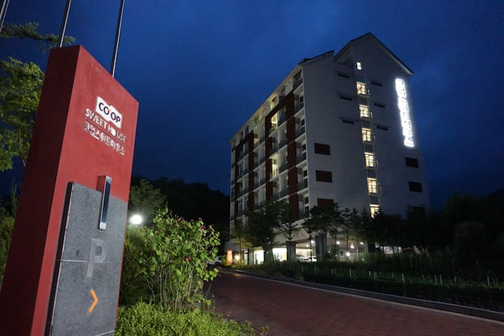 공기좋은 평창 휘닉스파크 리조트 2분거리에 있는 저렴하고 깔끔한 아파트형 콘도 - Bongpyeong-myeon, Pyeongchang-gun - Kondominium