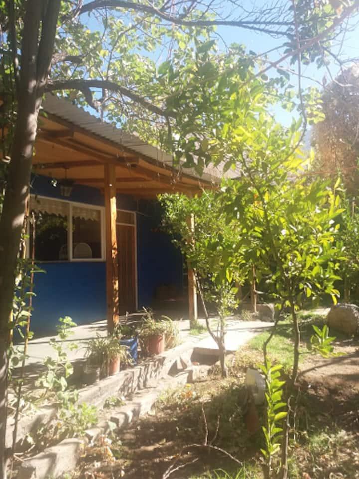 Casa azul Pisco Elqui