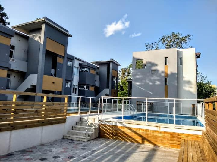 Departamento con piscina y solarium en Pinamar