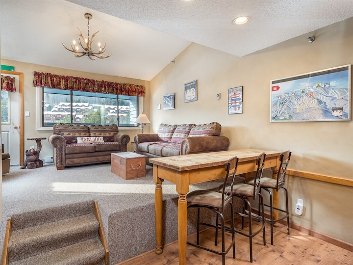 Ski in Ski out Condo with Outdoor Pool and Hot Tub- Brookside II A-316