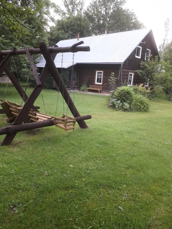 Agrohaczow za rzeką sauna fińska w gospodarstwie