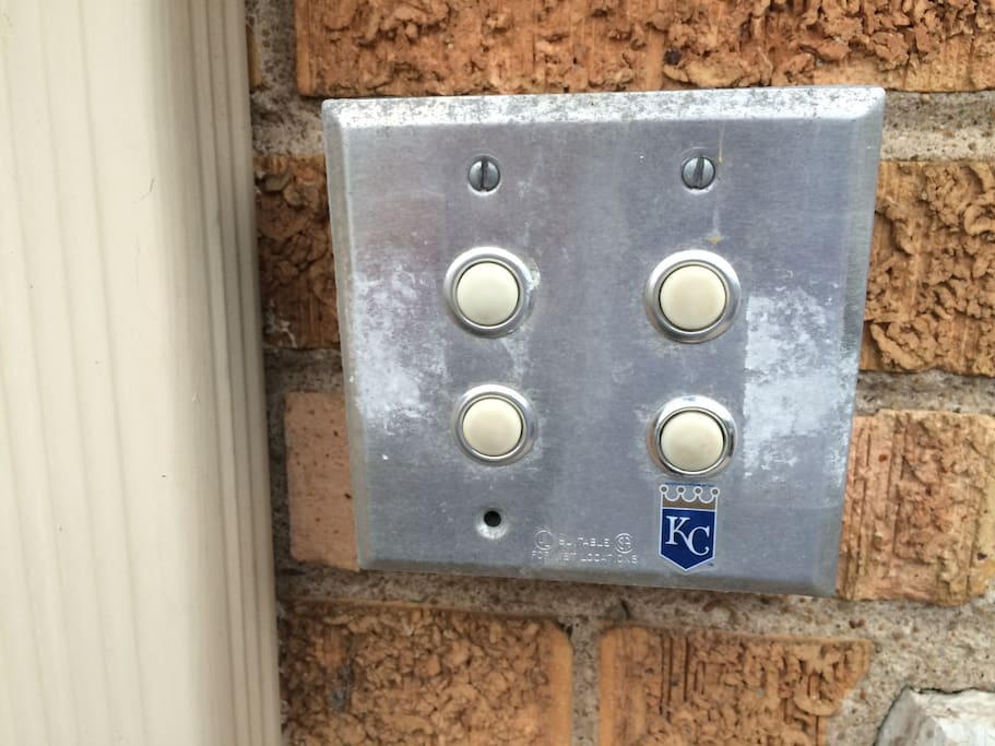 Door bell to unit. We are the Royals!