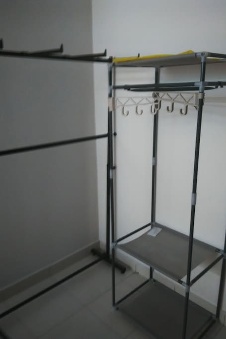 Wardrobe for hanging cloths.