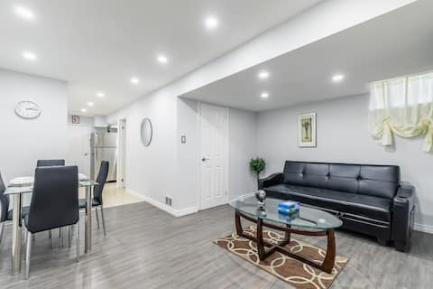 Clean and Bright Renovated Basement