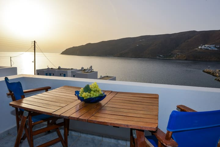 See Amorgos Sunset and sea view next to the beach - Aegiali - Appartement