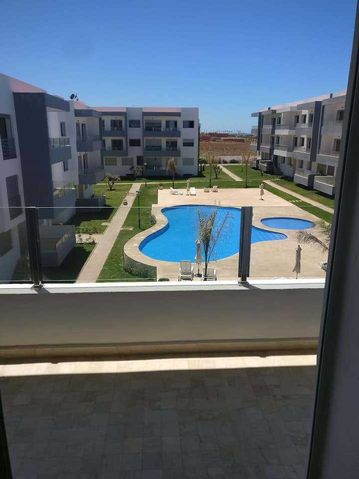 Appart T3 STANDING piscine & WIFI  Dar Bouazza -