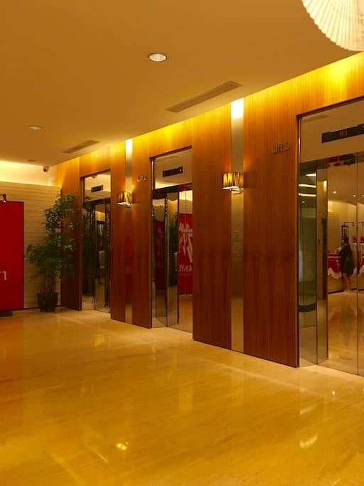 Elevator to the apartment from the lobby