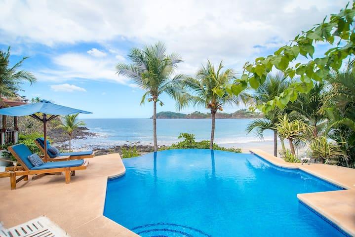 Infinity edge ocean view pool