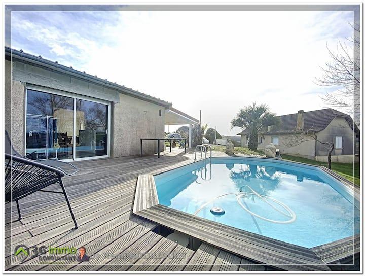 Location agréable maison atypique T3