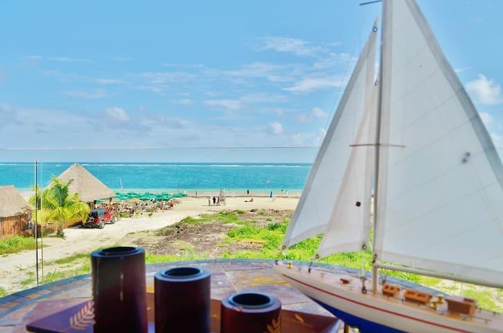 Beach Front Condo Del Mar #3 - 2BR - Puerto Morelos - Flat