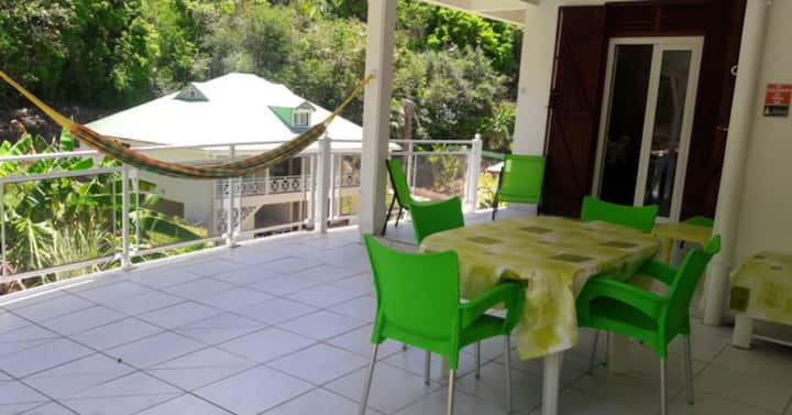 Maison de 2 chambres à Le Gosier, avec jardin aménagé et WiFi - à 3 km de la plage