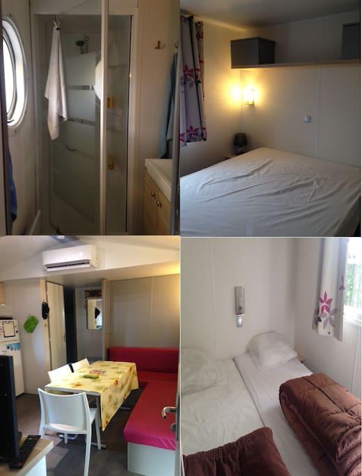 SDB + séjour + Chambres