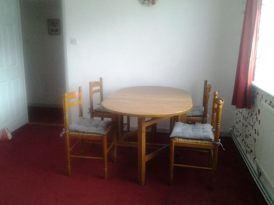 Dining area. Table will seat up to 6 comfortably