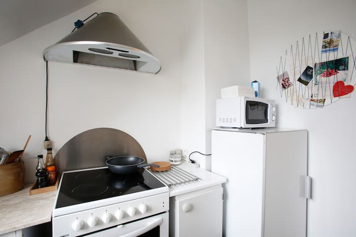 Your own kitchen with lots of kitchen facilities.