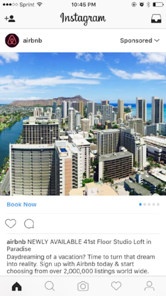 1 in 2,000,000 - As Featured on Official Instagram Ad Sponsored by Airbnb.