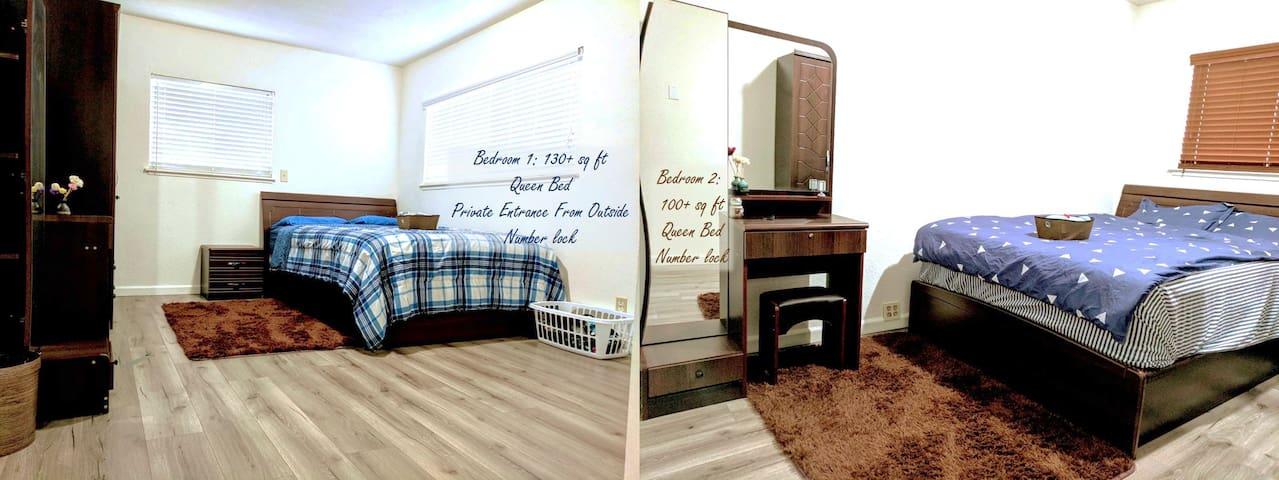 2 Bedrooms w Pvt entrance & bath off 680 @Milpitas