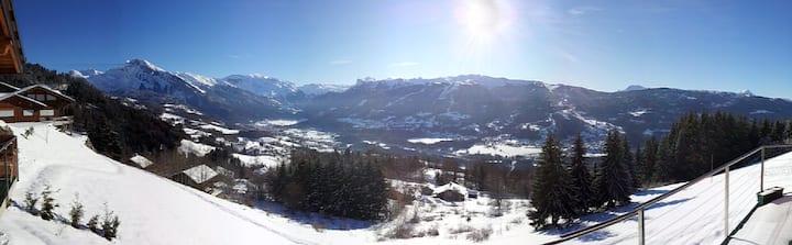 4 pièces plein Sud avec vue sur Mt Blanc à 1100m