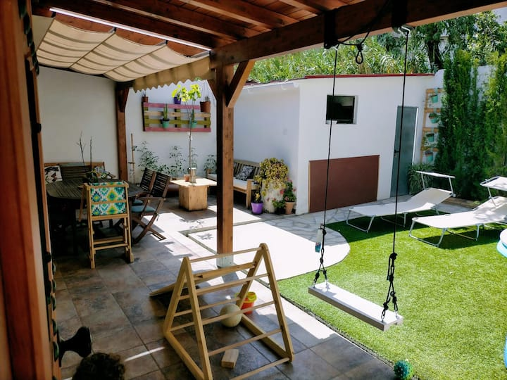 Casa con jardín a 3km de Granada (Especial Niños)