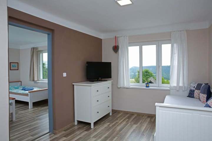 second room with bed for two people with great view