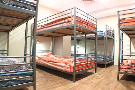Single BED in Dorm room is perfect choice for backpackers and budget travelers.  Every bed comes with a private Security Locker, reading lamp, USB Charger and Universal Power Outlet.  Please note: this is a MIXED room = male & female.