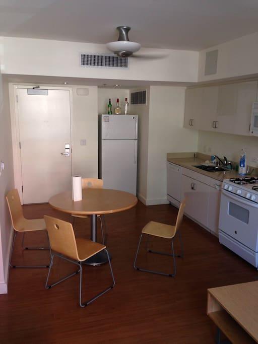 Dining area / kitchen / front door