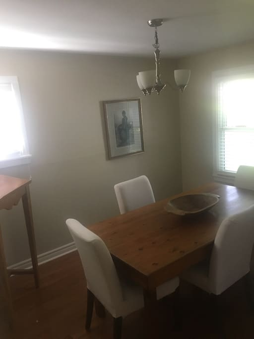 Lovely, bright dining room or workspace.