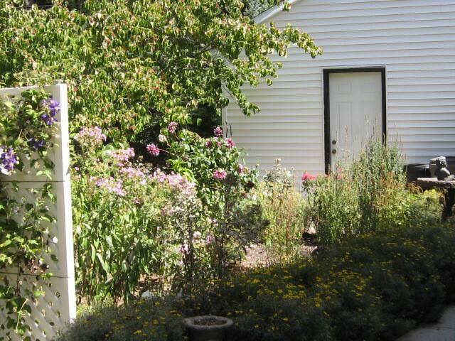 Side entrance to garage