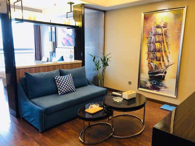 【五一广场坡子街】一室市景大床房/尊贵城景1