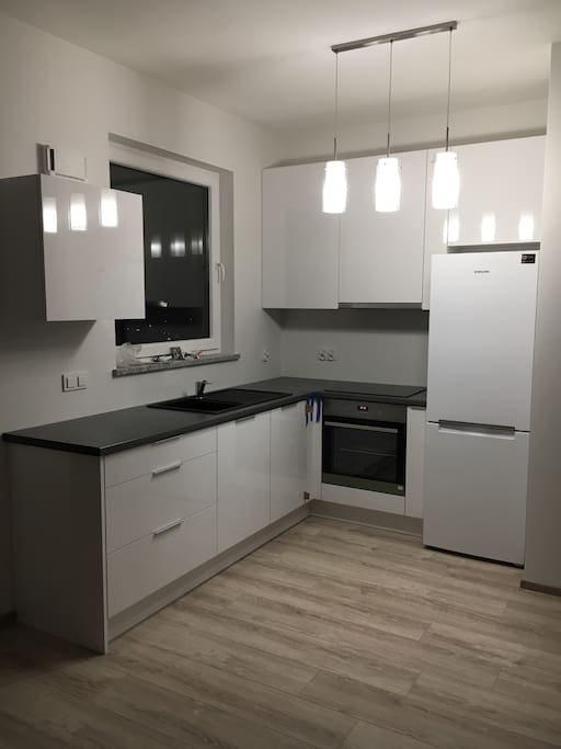 kitchen with brand new, high quality appliances