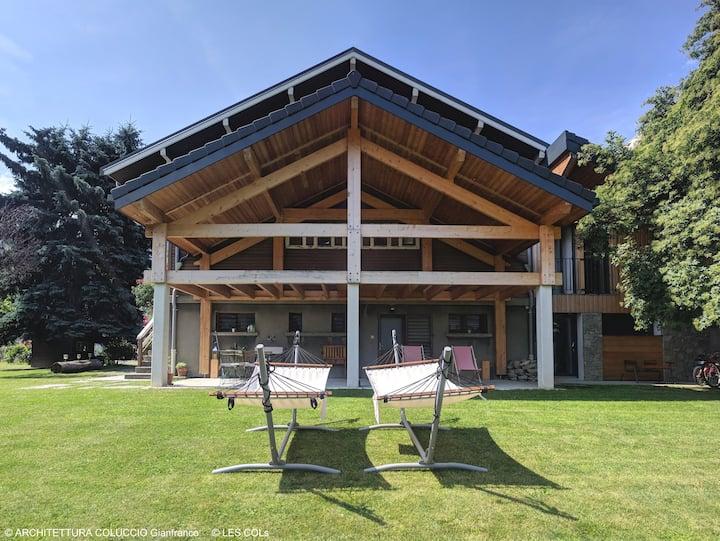 Chalet LES COLs - Chambre Terrasse Jardin Parking