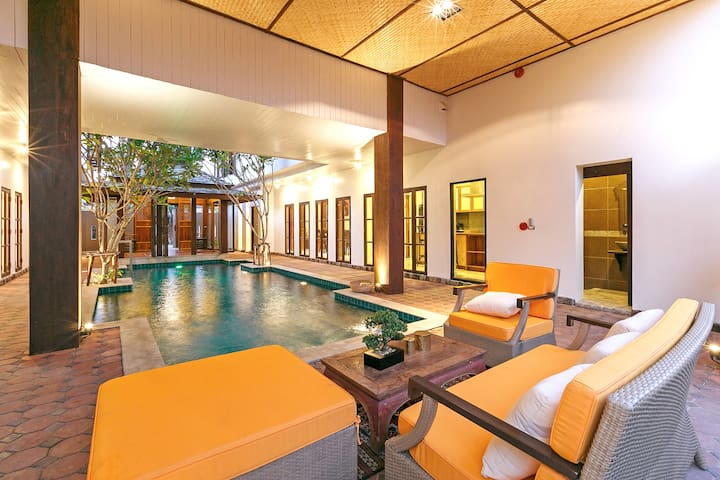 Thai Style Villa+ Private Pool + Airport Transfer