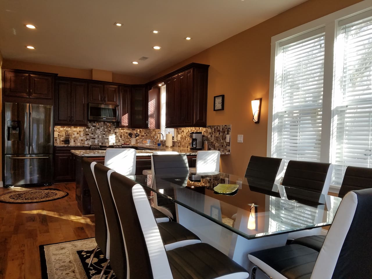 New construction, upscale amenities, breakfast bar and dining area.