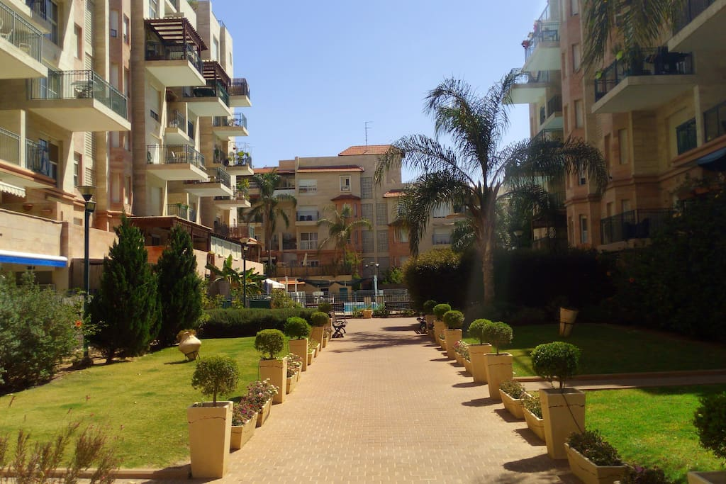 pleasant garden apartment flats for rent in rehovot