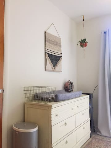 Baby room with changing table