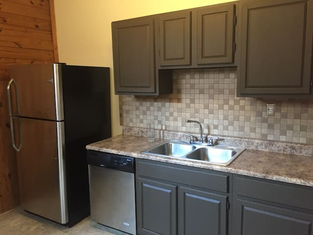 Full kitchen with stainless steel appliances!