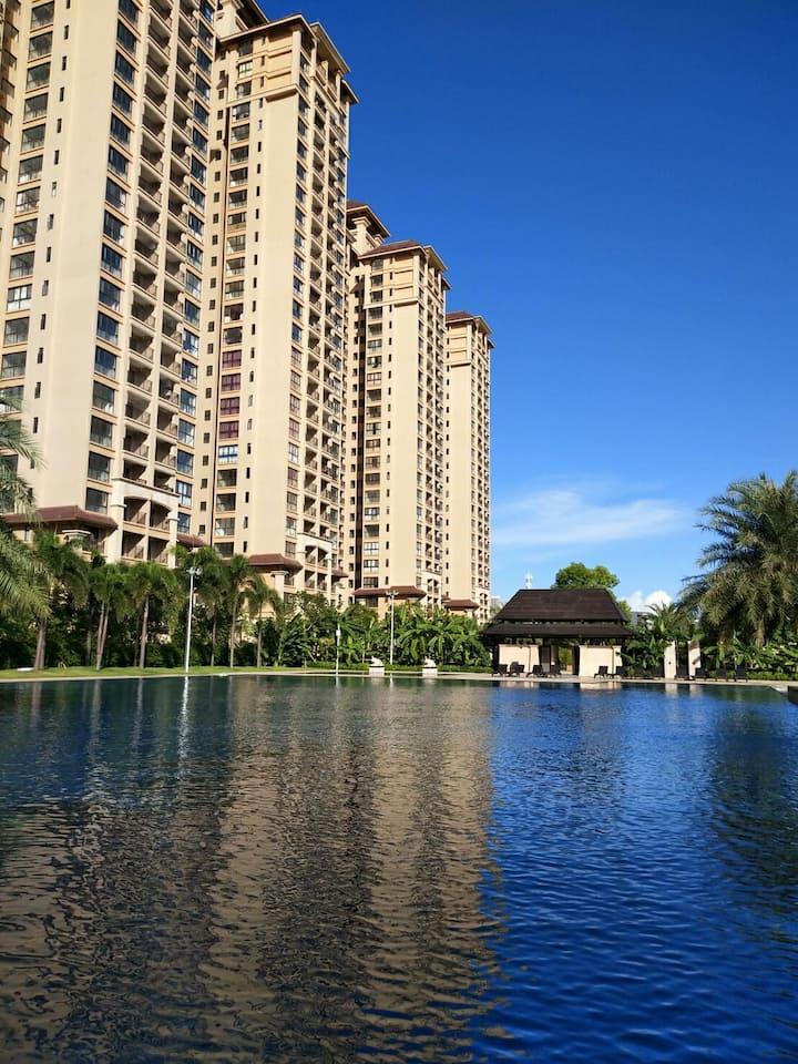 21公馆 私家泳池 海景房高层视觉好。