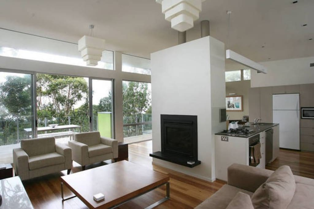 Stunning open plan living and dining area