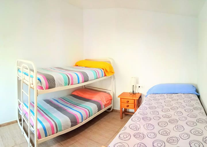 Habitación doble con baño privada