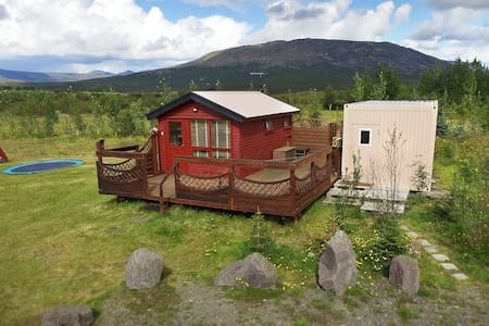 Cozy cabin, hot tub, Golden circle - Laugarvatn