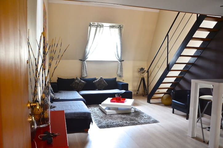 Duplex Cosy, 1 minute from Brussels Midi Station