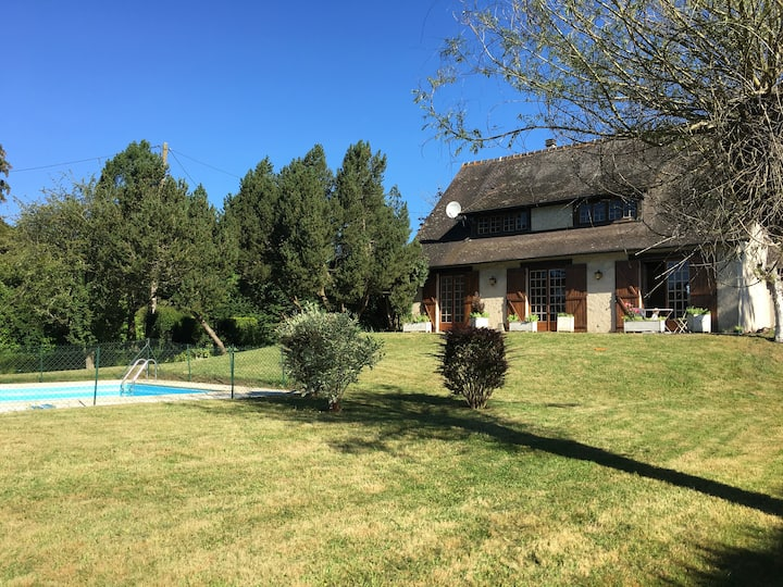 Maison de campagne avec piscine-10km de Deauville