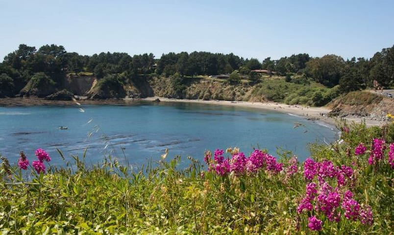 Walk to secluded beach, 4 minutes to Mendocino ❤️