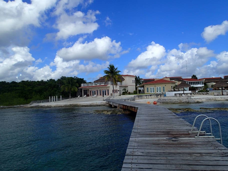 Look at the Villa from the Our Pier