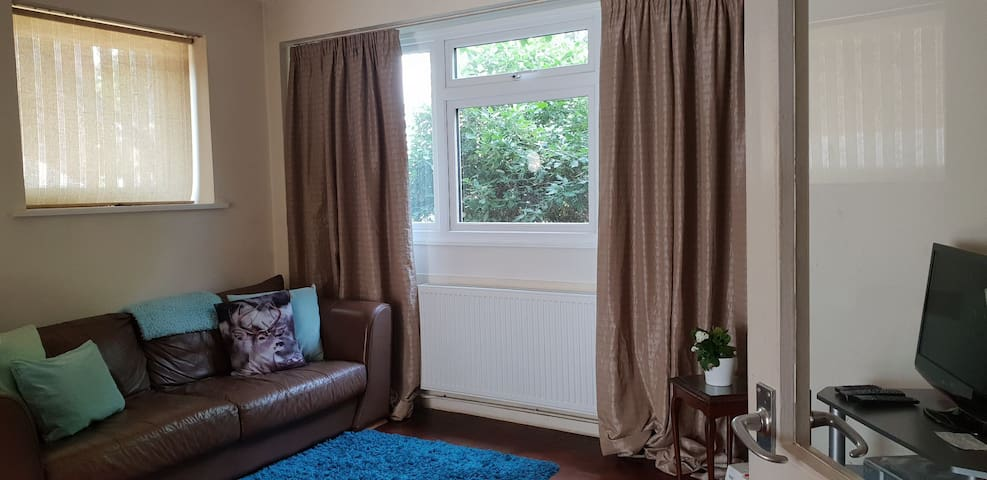 Retro two bed garden flat! Budget functional home.