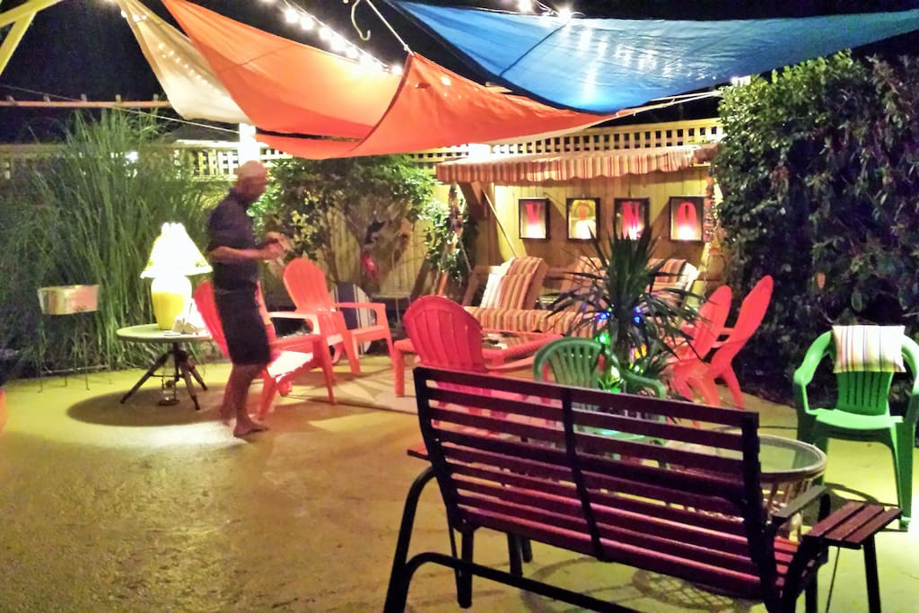 Front Patio in the evening
