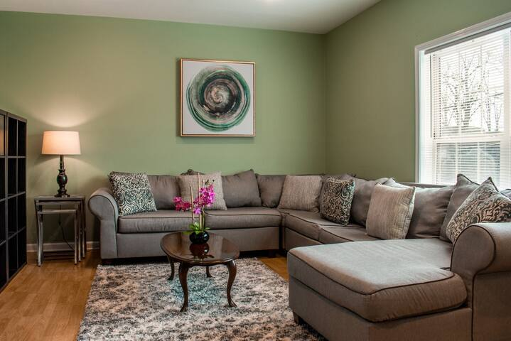 Home-style living room with comfy sleeper sofa available