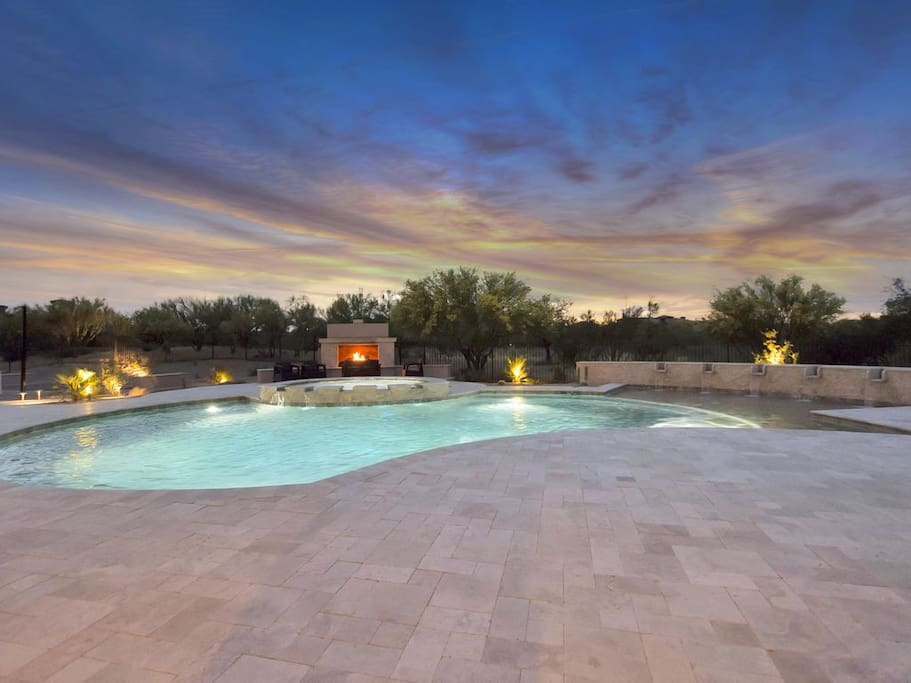 You will never leave this resort style backyard