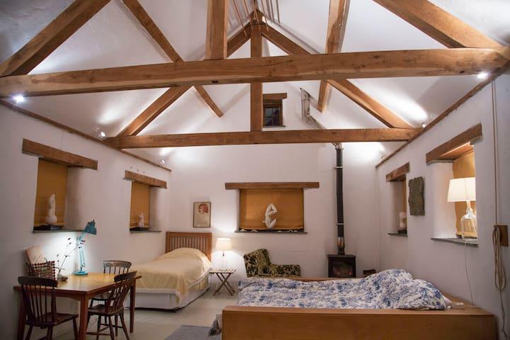 A tranquil studio bedroom